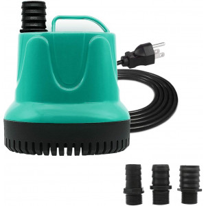 Upettools Submersible Water Pump, Ultra Silence Circulation Multifunctional Water Pump with Handle For Pond, Aquarium, Hydroponics, Fish Tank Fountain with 6.2ft (1.9M) Power Cord(330GPH,40W)